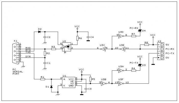 Schema Elettrico Power Bank : Rs optoisolata come isolare la porta seriale