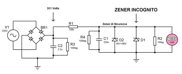 Circuito Zener : Misuriamo la tensione di un diodo zener elettronica open