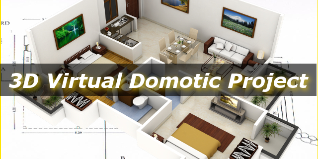 Logo 3D Virtual Domotic Project