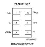 74AUP1G07 buffer di bassa potenza con uscita open-drain