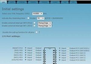 AVRcoder - generatore di codice C per AVR