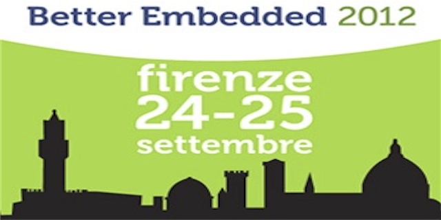 Better embedded 2012 a Firenze