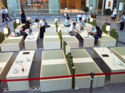 Free ipad nel Tokyo cafè