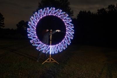Cerchio di luci con led