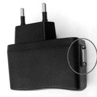 Caricabatterie di un telefono cellulare standard con porta USB