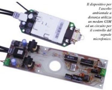 Controllo ambientale audio con GSM
