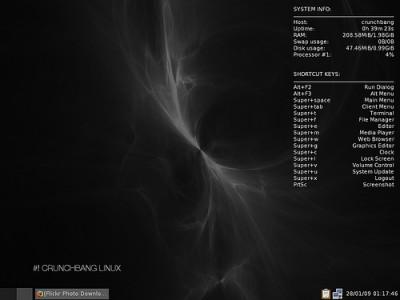 CrunchBang Linux è una distro basata su Debian veloce e personalizzabile