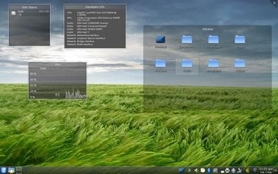 Il desktop KDE si caratterizza per un'alta configurabilità e grande attenzione alla grafica