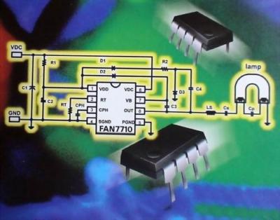 FAN7710 Ballast Control - schema elettrico