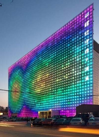 Il Led Wall gigante a Pechino alimentato a luce solare
