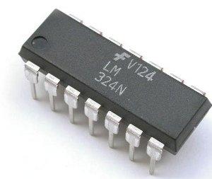 LM324 amplificatore operazionale quadruplo