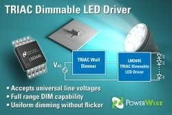 LM3445 - Primo Driver per LED dimmabile a TRIAC senza fenomeni di Flicker