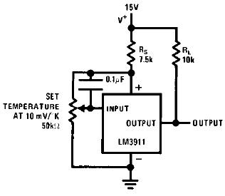 LM3911 controllore di temperatura