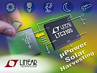 LTC3105 convertitore step-up sincrono da 400 mA con MPPC per applicazioni di energy harvesting