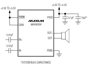 max98304 circuito