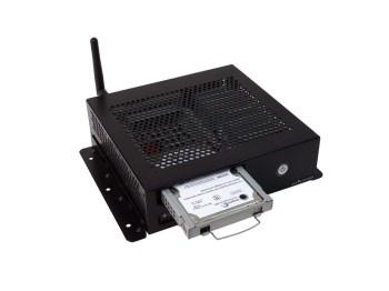 Mini PC Fanless con dispositivi di memorizzazione rimovibili Front Loaded