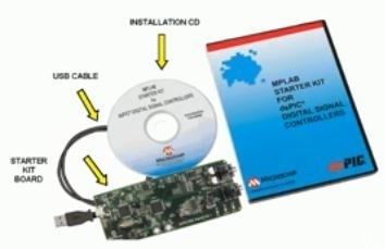 Starter kit Microchip MPLAB per controllori digitali dsPIC