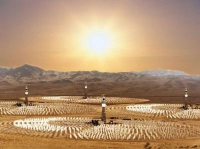 Sale fuso per immagazzinare l'energia solare.