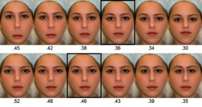 geometria e bellezza del volto femminile