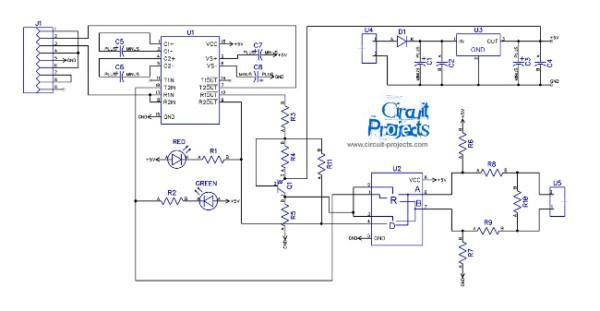 Schema Elettrico Usb : Rs schema convertitore seriale elettronica