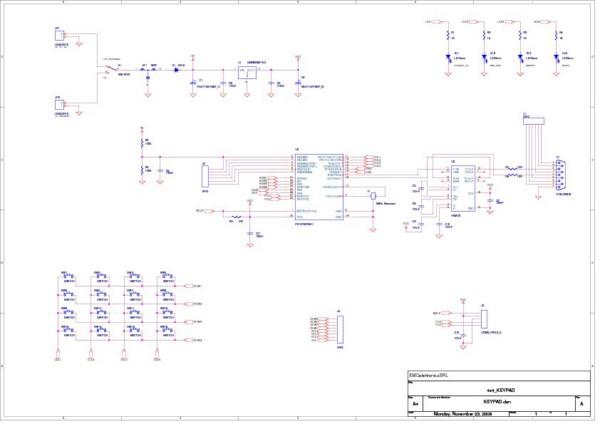 Schema Elettrico Ups Per Pc : Tastiera a matrice rs progetto completo