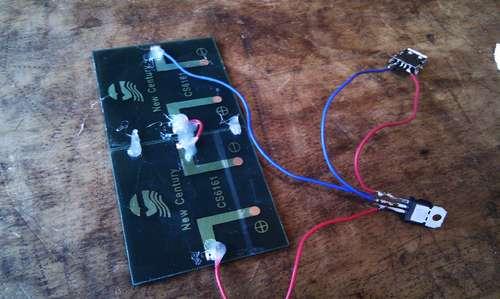 Schema Montaggio Pannello Solare Usb : Caricatore usb ad energia solare elettronica open source
