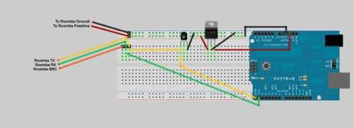 Schema Elettrico Regolatore Di Tensione : Web controller per twitter con roomba elettronica open