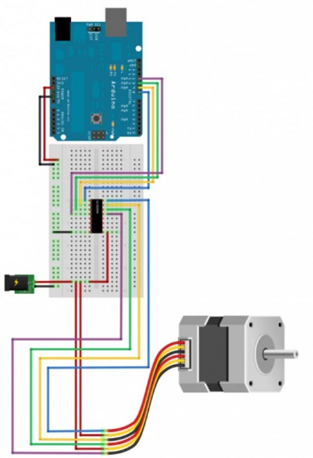 Schema Elettrico Per Motore Passo Passo : Guida arduino motore passo elettronica open source