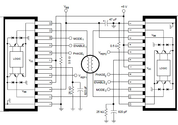 a3952s controllore del motore passo passo  u2013 schema