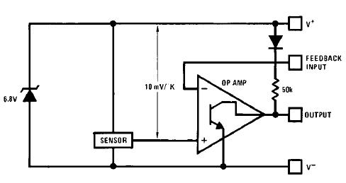 lm3911 controllore temperatura schema blocchi