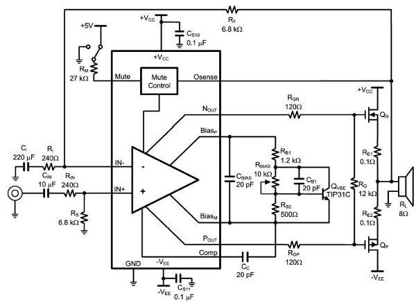 Schemi Elettrici Amplificatori Audio Con N : Lme amplificatore audio di potenza schema elettrico