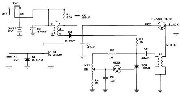 Schema Elettrico Per 4 Punti Luce : Mini luce stroboscopica schema elettrico elettronica
