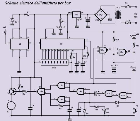 Schema impianto allarme con fili fare di una mosca - Schema impianto allarme casa ...