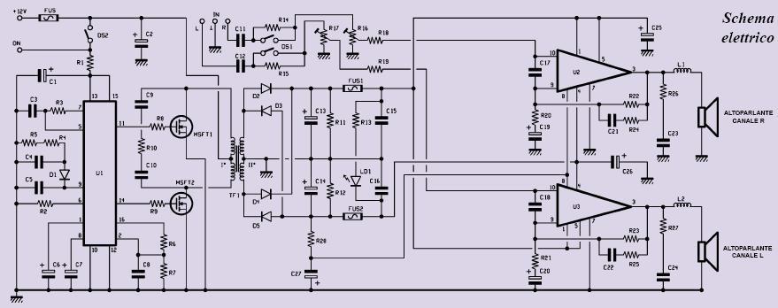 Schema Elettrico Zip : Booster auto watt elettronica open source