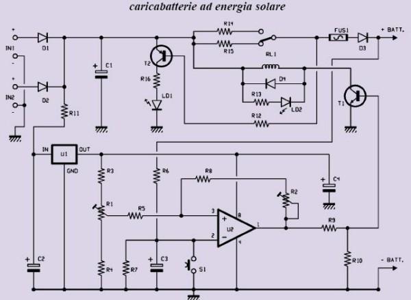 Schema Elettrico Caricabatteria Pannello Solare : Schema caricabatterie solare fare di una mosca