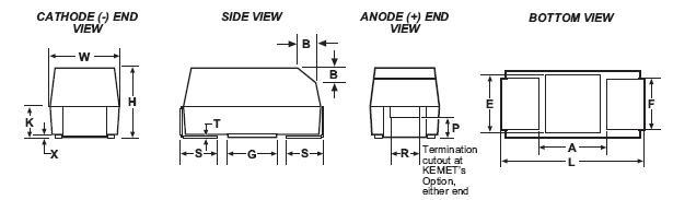 Condensatori di precisione stampati su chip Serie T491