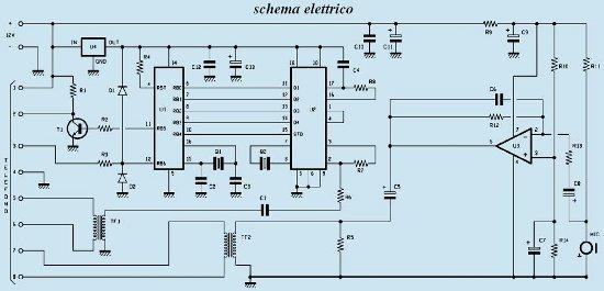 controllo ambientale audio gsm schema elettrico