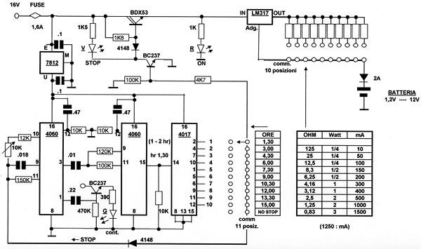 Schemi Elettrici Open Source : Generatore di corrente costante con lm elettronica