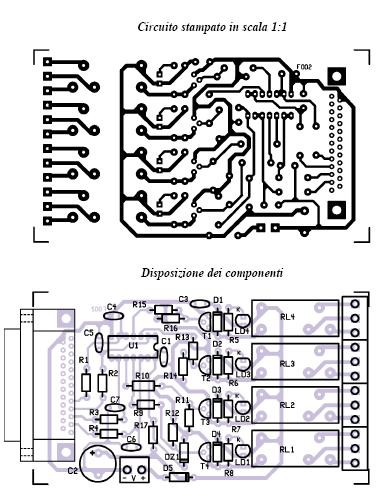 interfaccia relè pcb