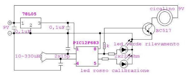 Schema Elettrico Per Metal Detector : Piccolo metal detector fai da te elettronica open source