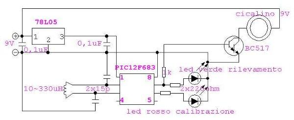 Schema Elettrico Per Metal Detector : Schema elettrico metal detector fare di una mosca