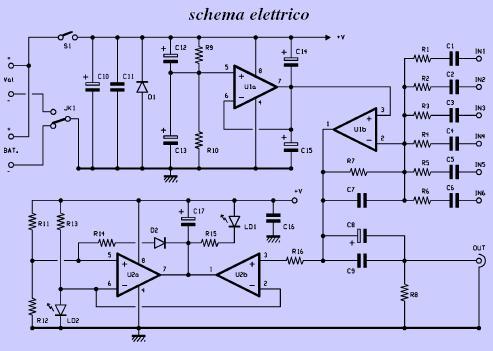 Schema semplice mixer