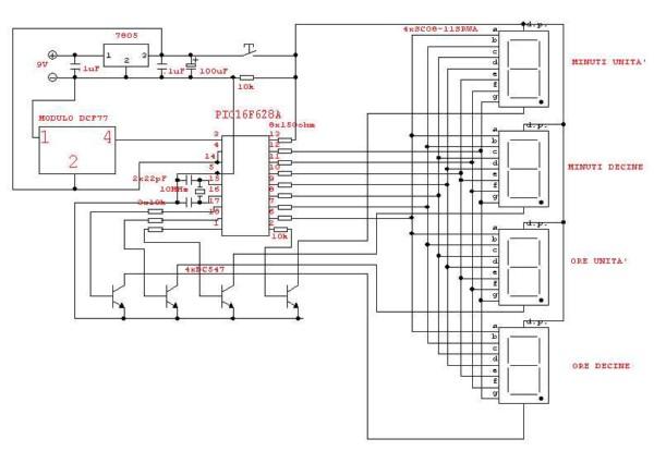 Schema Collegamento Orologio Finder : Schema collegamento orologio fare di una mosca