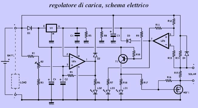 Schema Elettrico Caricabatteria Pannello Solare : Schema regolatore di tensione per pannello solare fare