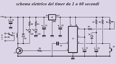 Schema elettrico orologio temporizzatore