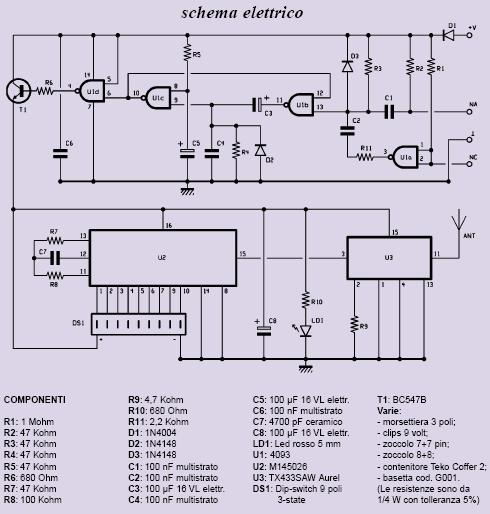 Schema Elettrico Serranda Motorizzata : Schema funzionamento radio fare di una mosca