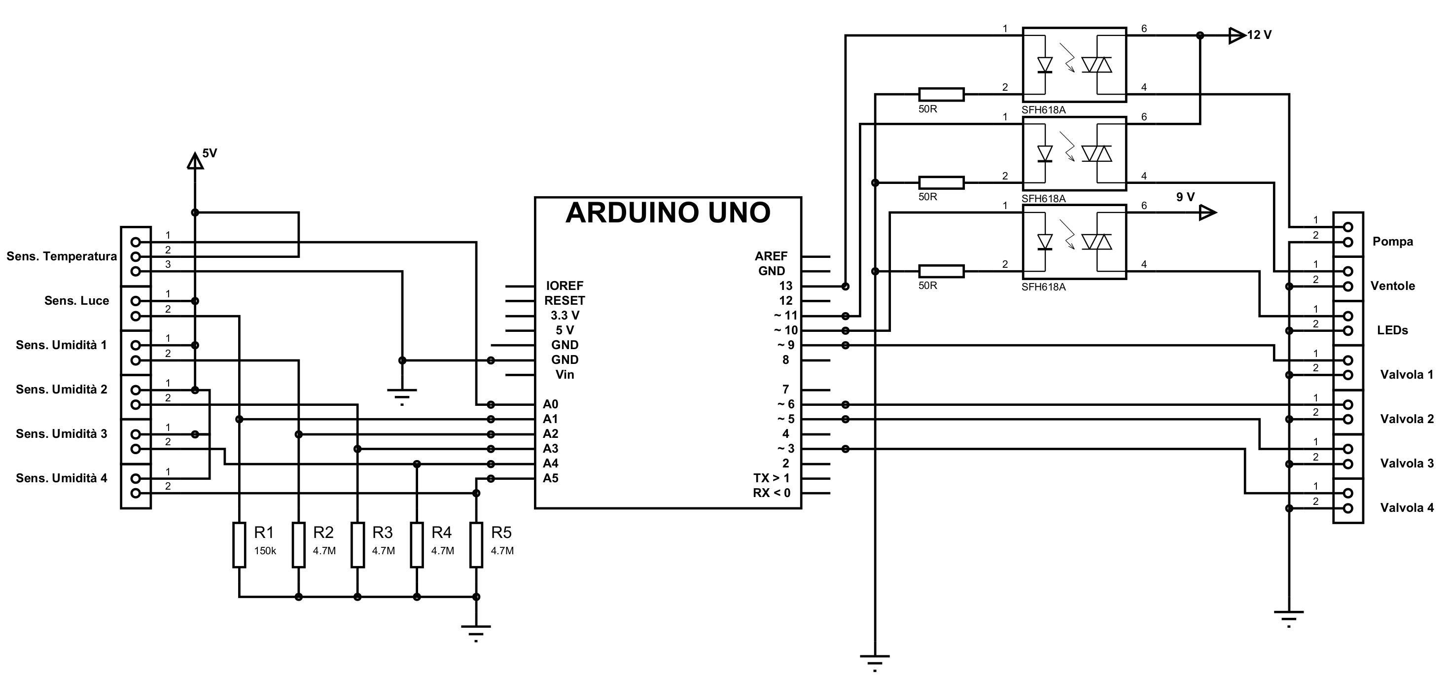 Schemi Elettrici Arduino : Progetto giardiniere gestire una serra domestica con arduino