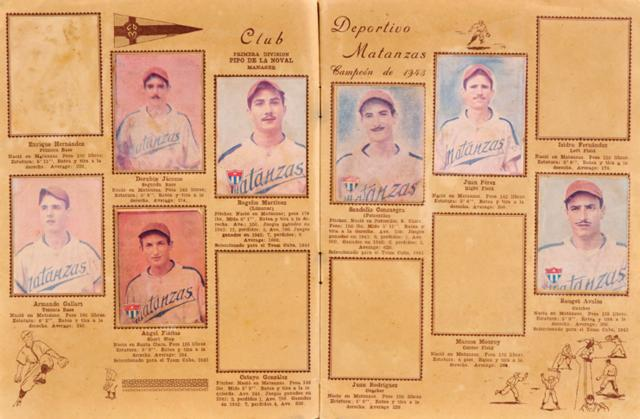 "1943 ""Tarin Sports – La Ambrosia"" Cuban Amateur Baseball League Collection (99)"