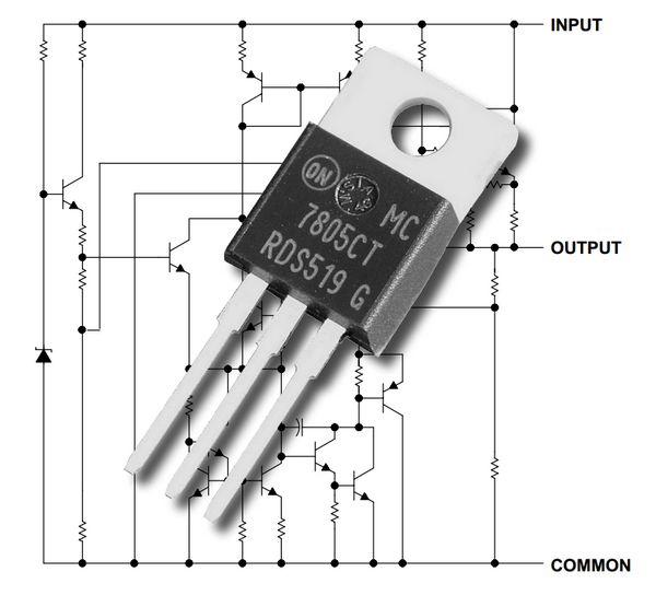 5V e 1A fuori in 10V a 35V 7805 T positivo fisso REGOLATORE di tensione lineare