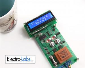 Wattmetro digitale collegato al boiler